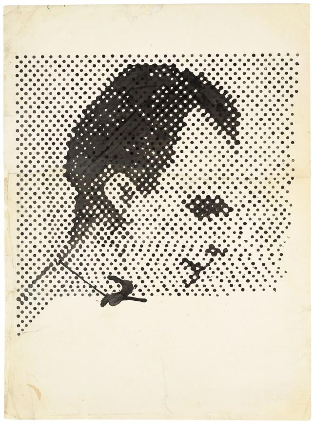 Alibis: Sigmar Polke 1963-2010 Sigmar Polke, German, 1941–2010 Raster Drawing (Portrait of Lee Harvey Oswald) (Rasterzeichnung (Porträt Lee Harvey Oswald)) 1963 Poster paint and pencil on paper 37 5/16 × 27 1/2″ (94.8 × 69.8 cm) Private Collection Photo: Wolfgang Morell, Bonn © 2014 Estate of Sigmar Polke/ Artists Rights Society (ARS), New York / VG Bild-Kunst, Bonn