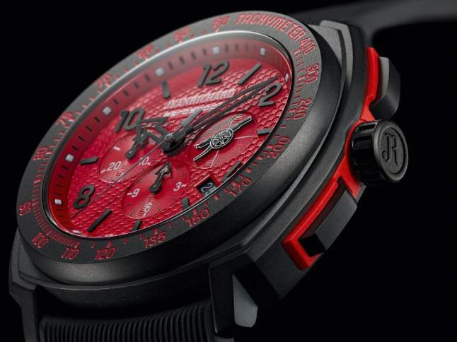 JEANRICHARD'S Limited Edition Arsenal FC Aeroscope, 250 pieces worldwide.  (PRNewsFoto/JEANRICHARD)