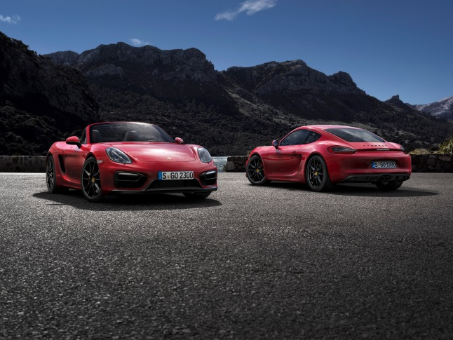 Prototypes of the new Porsche Boxster GTS and Cayman GTS
