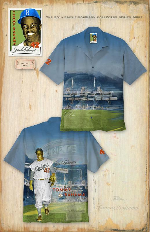 "Tommy Bahama 2014 MLB Jackie Robinson ""Collector's Edition"" Shirt.  (PRNewsFoto/Tommy Bahama)"