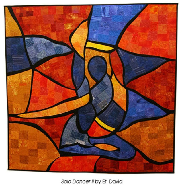 Solo Dancer II by Eti David. (PRNewsFoto/National Quilt Museum)