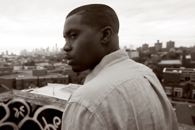 "This image released by the Tribeca Film Festival shows Nas in a scene from the documentary, ""Time is Illmatic."" The film, which follows the trajectory of Nas' 1994 landmark debut album, ""Illmatic,"" will open the 2014 Tribeca Film Festival on April 16. The festival will run through April 27. (AP Photo/Tribeca Film Festival)"