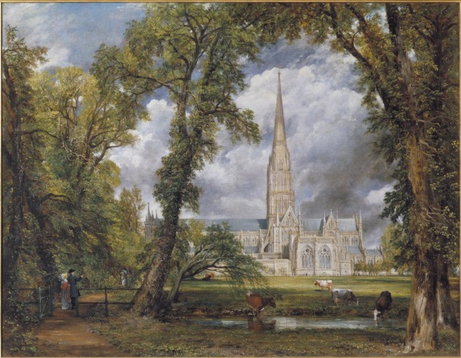 Salisbury Cathedral from the Bishop's Ground, Oil on canvas, John Constable, 1823, Victoria and Albert Museum, London