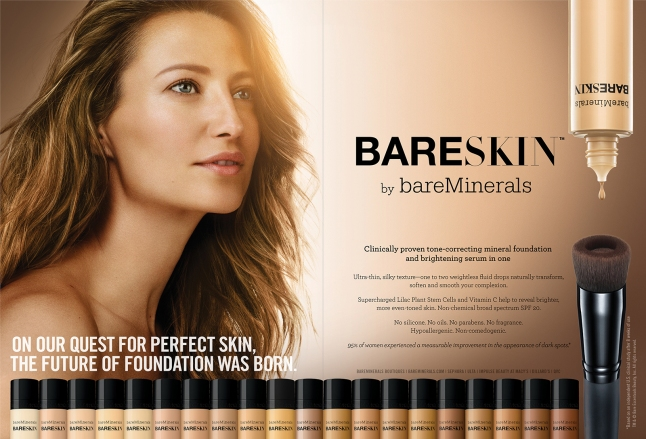 bareSkin™ Foundation Print Advertisement
