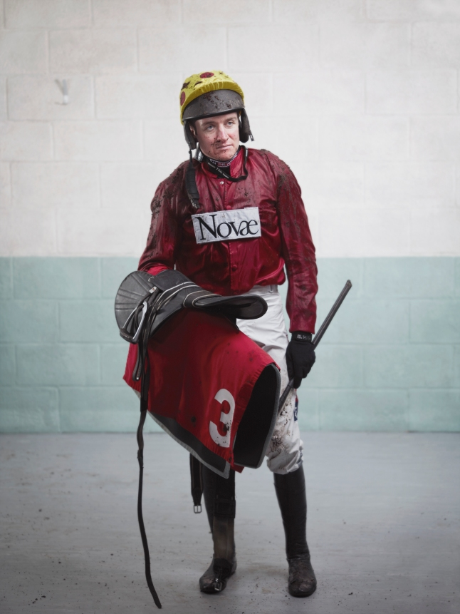 Channel 4 Racing - The Original Extreme Sport: A series of portraits of jump jockeys post race, showing the extremes the jockeys go to in pursuit of their sport. To illustrate a campaign entitled - The Original Extreme Sport