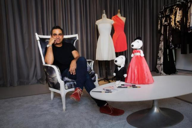 DESIGNER BIBHU MOHAPATRA CREATES LOOKS FOR SNOOPY AND HIS SISTER BELLE IN A NEW EXHIBIT AT THE NEW MUSEUM'S SKY ROOM THIS NEW YORK CITY FASHION WEEK. (PRNewsFoto/Peanuts Worldwide)