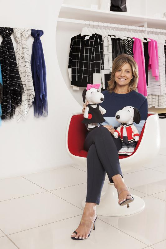DESIGNER LISA PERRY CREATES LOOKS FOR SNOOPY AND HIS SISTER BELLE IN A NEW EXHIBIT AT THE NEW MUSEUM'S SKY ROOM THIS NEW YORK FASHION WEEK (PRNewsFoto/Peanuts Worldwide)