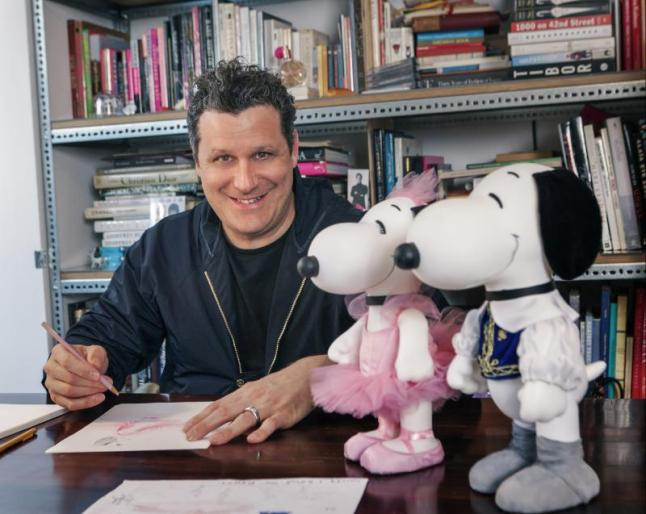 DESIGNER ISAAC MIZRAHI CREATE LOOKS FOR SNOOPY AND HIS SISTER BELLE IN A NEW EXHIBIT AT THE NEW MUSEUM'S SKY ROOM THIS NEW YORK FASHION WEEK (PRNewsFoto/Peanuts Worldwide)