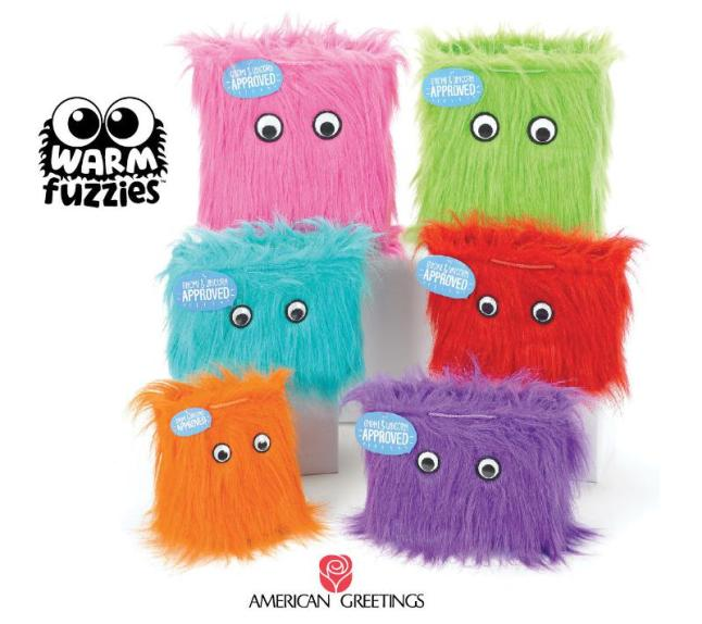 Add some fun - and fur! - to any gift with Warm Fuzzies(TM) from American Greetings. Each of these stylin' new gift bags is a festive combination of googley eyes and long, brightly-colored faux fur.  Available in a variety of shapes, sizes and a rainbow of colors, these award-winning and buzz-worthy bags are ready to party! (PRNewsFoto/American Greetings Corporation)
