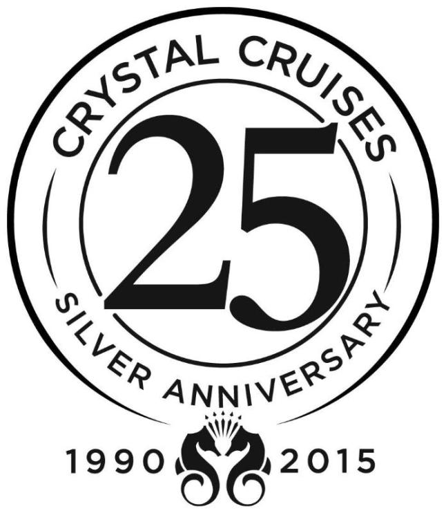 Crystal Cruises 25th Anniversary logo