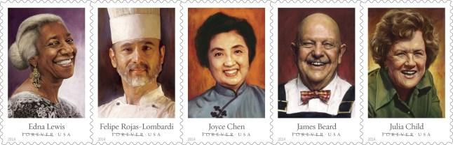 U.S. Postal Service Celebrity Chefs Forever(R) Stamps (PRNewsFoto/United States Postal Service)