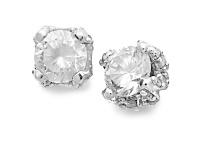1/2 ct. t.w. diamond earrings in 14k white gold $169