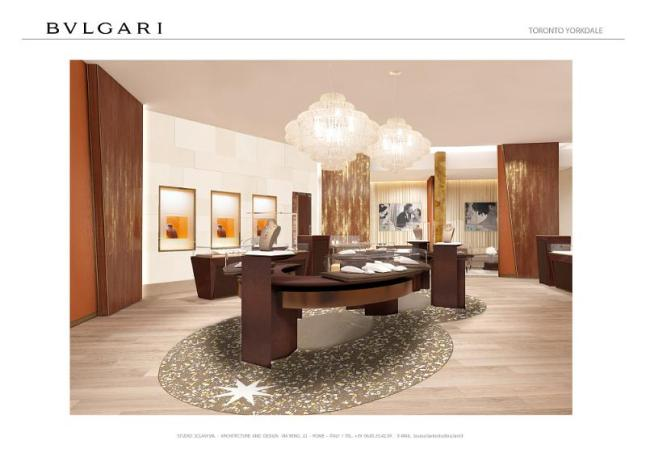 Bulgari Flagship Boutique at Toronto's Yorkdale Mall (PRNewsFoto/Bulgari)