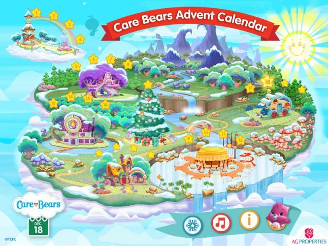 Count Down to Christmas with Brand-New Care Bears(TM) Advent Calendar! This interactive digital calendar is available for PC, Mac and iPad and brings sharing and caring to holiday anticipation. (PRNewsFoto/American Greetings Corporation)