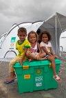 Children from the family who will receive Brazil box no. 1, Camp Brazilia Uno, Uniao Dos Palmares, Alegoas, Brazil