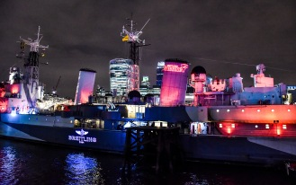 Breitling Launches The Emergency II on HMS Belfast, on Tuesday 25, November 2014, London, England.