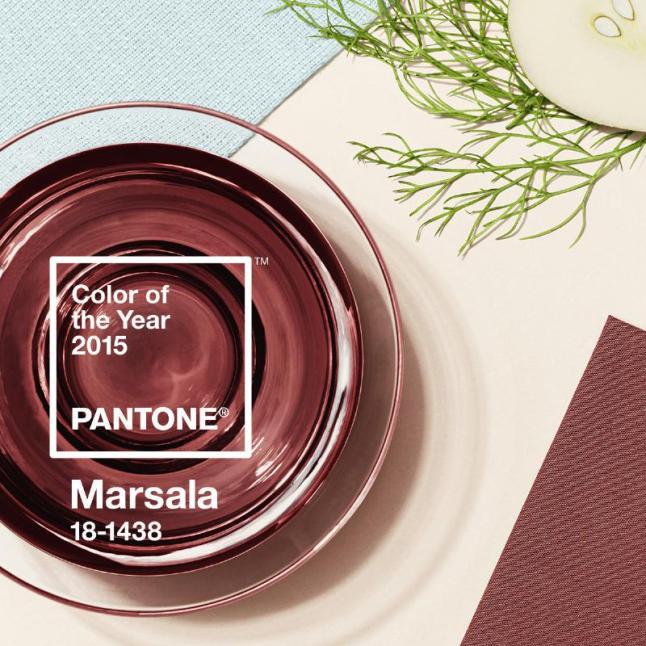 Pantone Reveals Color of the Year for 2015: PANTONE 18-1438 Marsala (PRNewsFoto/Pantone LLC)