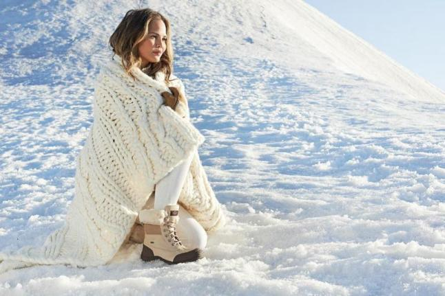 Chrissy Teigen in UGG Australia's Winter Campaign. (PRNewsFoto/UGG Australia)