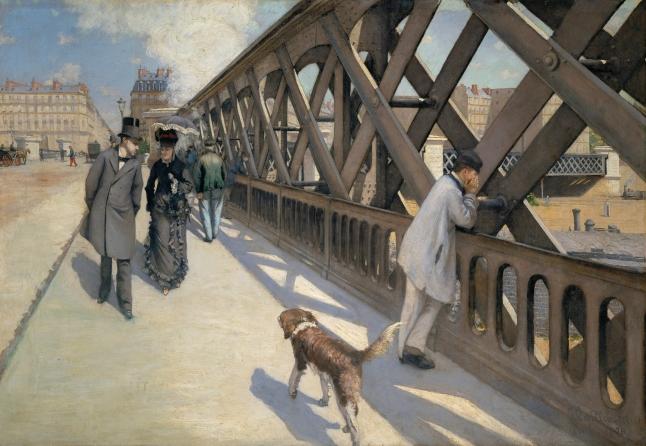 Gustave Caillebotte, The Pont de l'Europe, 1876, oil on canvas. 124.8 × 180.7 cm (49 1/8 × 71 1/8 in.). Collection: Association des Amis du Petit Palais, Geneva