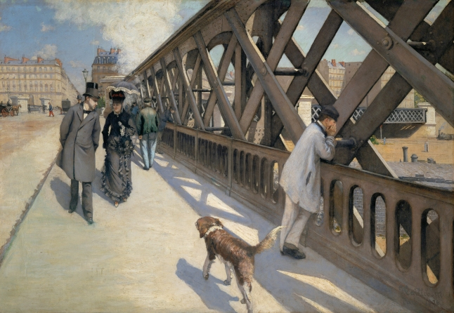 Gustave Caillebotte, The Pont de l'Europe, 1876, oil on canvas. 124.8 × 180.7 cm (49 1/8 × 71 1/8 in.). Collection: Association des Amis du Petit Palais, Geneva