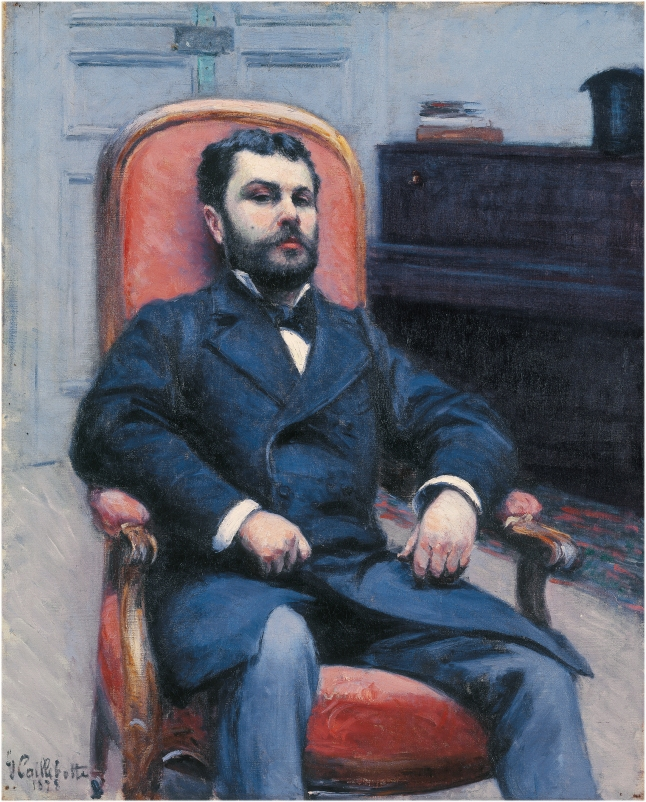 Gustave Caillebotte, Portrait of Richard Gallo, 1878, oil on canvas, 80 × 65 cm (31 1/2 × 25 9/16 in.), Private Collection, on loan to Fondation de l'Hermitage, Lausanne