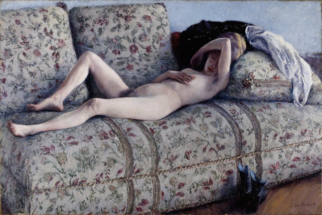 Gustave Caillebotte, Nude on a Couch, 1880, oil on canvas, 129.54 × 195.58 cm (51 × 77 in.)Lent by The Minneapolis Institute of Arts, The John R. Van Derlip Fund