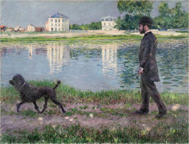Gustave Caillebotte, Richard Gallo and his Dog, 1884, oil on canvas 89 x 116 cm (35 1/16 x 45 11/16 in.). Private Collection