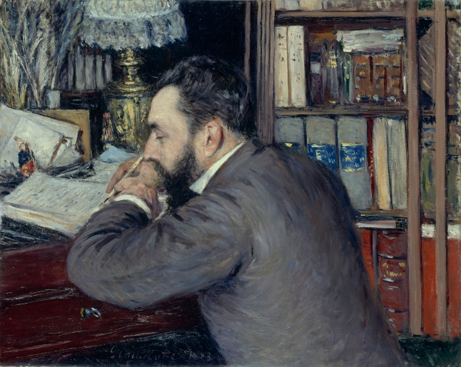 Gustave Caillebotte, Portrait of Henri Cordier, 1883, oil on canvas, 65 × 81.5 cm (25 9/16 × 32 1/16 in.). Musée d'Orsay, Paris, Gift of Mrs. Henri Cordier, 1926