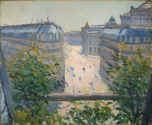 Gustave Caillebotte, The Rue Halévy, Seen from a Balcony, 1878. oil on canvas, 60 × 73.2 cm (23 5/8 × 28 13/16 in.). Joan and Bernard Carl, Washington DC