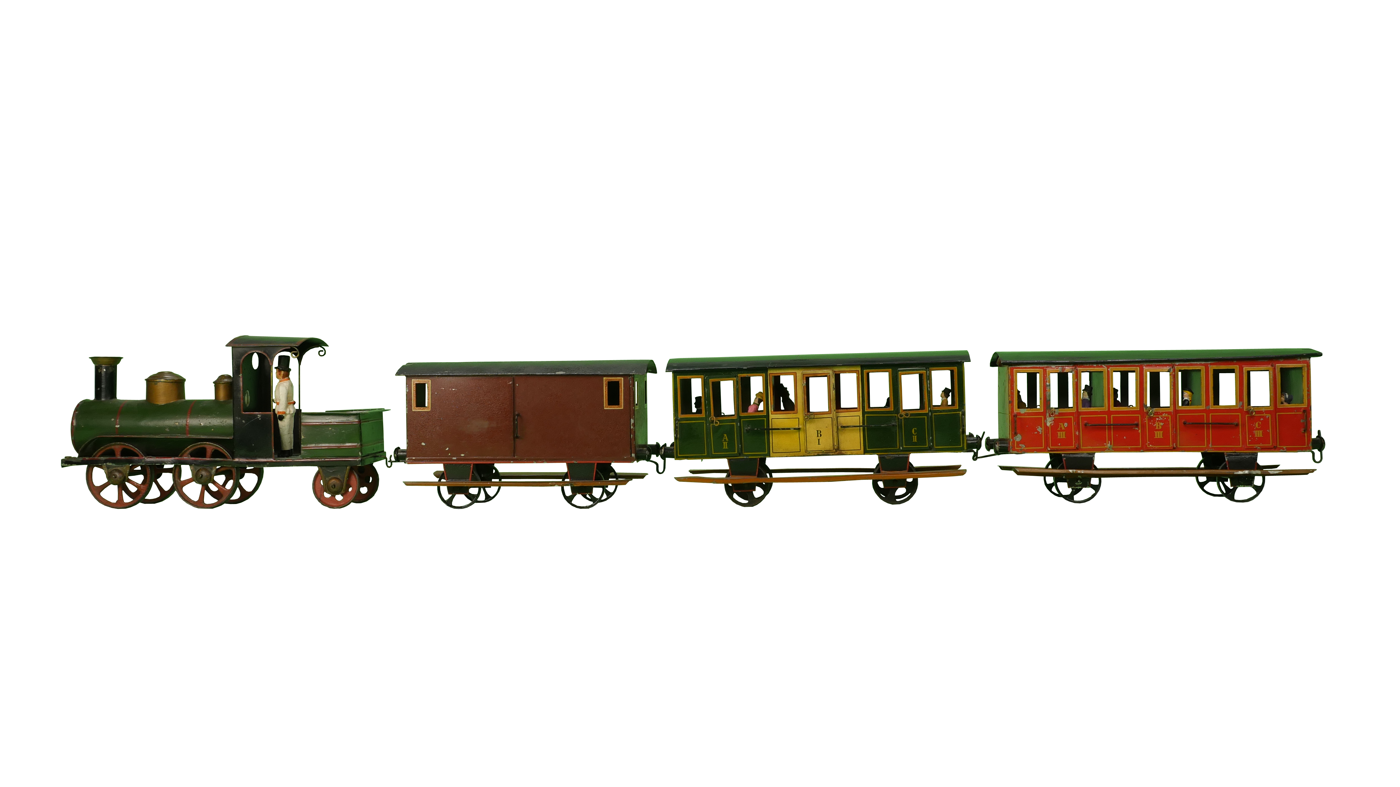 Lutz Toy Company Floor toy train set, 1884. New-York Historical Society, The Jerni Collection.