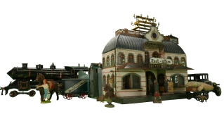 Märklin Post Office, 1895, with other toys. New-York Historical Society, The Jerni Collection.