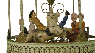 Detail of Gebruder Bing Carousel, 1880-1890. New-York Historical Society, The Jerni Collection.