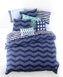 Shown: Whim Spot Chevron Comforter Set $140-$200. (Photo: Business Wire)