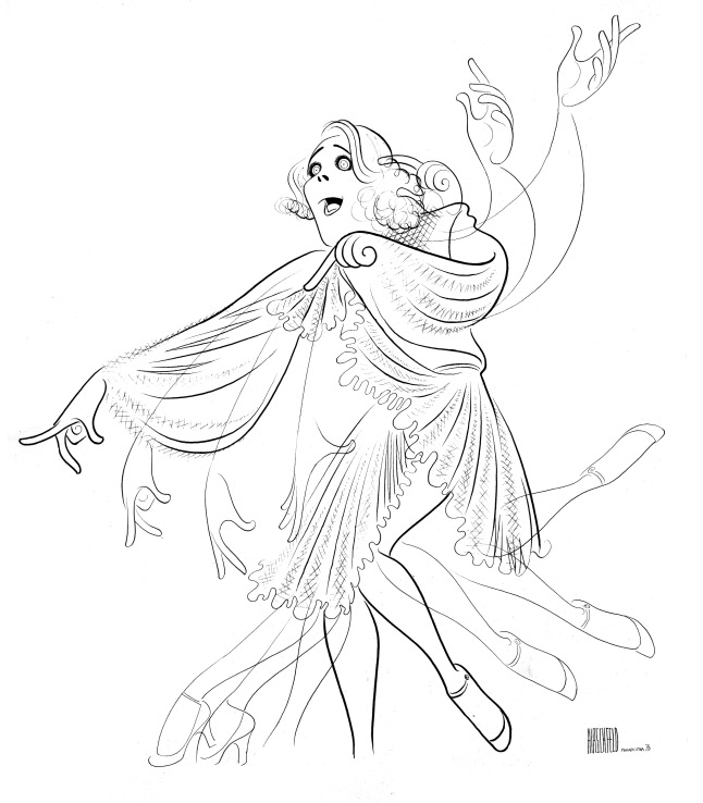 Ruby Keeler in No, No Nanette, 1971 Ink on board Collection of the Al Hirschfeld Foundation © The Al Hirschfeld Foundation. www.AlHirschfeldFoundation.org