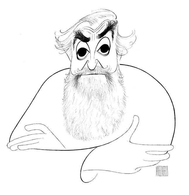 Self portrait, 1985 Ink on board Collection of Harvard University © The Al Hirschfeld Foundation. www.AlHirschfeldFoundation.org