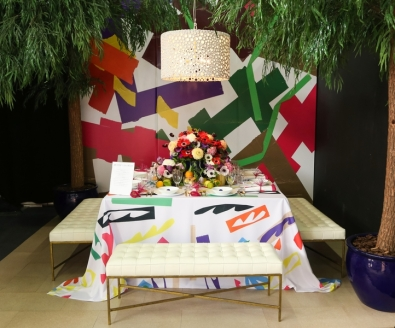 DIFFA's DINING BY DESIGN table viewing at Pier 92 at the Architectural Digest Home Design Show 2014: Architectural Digest