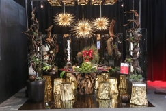 DIFFA's DINING BY DESIGN table viewing at Pier 92 at the Architectural Digest Home Design Show 2014: Arteriors