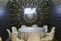 DIFFA's DINING BY DESIGN table viewing at Pier 92 at the Architectural Digest Home Design Show 2014: Axor NYC