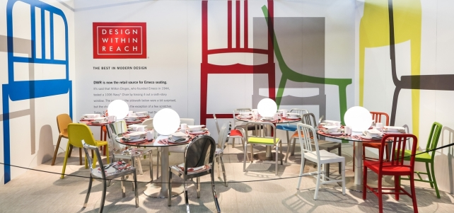 DIFFA's DINING BY DESIGN table viewing at Pier 92 at the Architectural Digest Home Design Show 2014: Design Within Reach