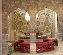 DIFFA's DINING BY DESIGN table viewing at Pier 92 at the Architectural Digest Home Design Show 2014: Echo Design