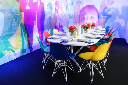 DIFFA's DINING BY DESIGN table viewing at Pier 92 at the Architectural Digest Home Design Show 2014: Genzler + Herman Miller
