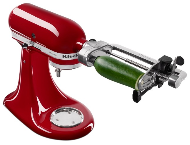 Go Healthy or Go Adventurous With Spiralizer Attachment For KitchenAid® Stand Mixer