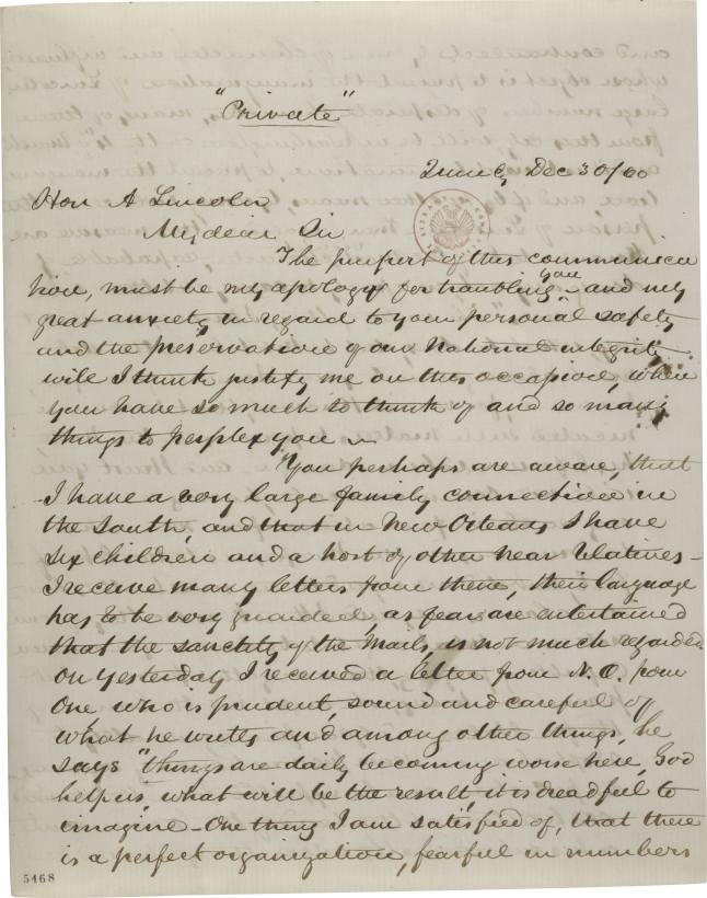 Abraham Jonas, a close friend of Lincoln's (a Jewish lawyer from Illinois), warns Lincoln of a plot to assassinate him before Inauguration Day. Jonas had sons living in the South, and he received word from them of the rumors to kill Lincoln. The warnings did not go unheeded: Lincoln was smuggled into Washington, arriving in the dead of night ten days before the Inauguration.