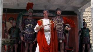 The Centurion (John Cleese) Pontius Pilate (Michael Palin) Biggus Dickus (Grahm Chapman A Guard (Eric Idle)