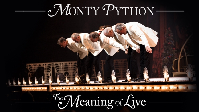 LONDON, ENGLAND - JULY 20:  (EXCLUSIVE COVERAGE) Michael Palin, Terry Gilliam, Eric Idle, John Cleese and Terry Jones perform on the closing night of 'Monty Python Live (Mostly)' at The O2 Arena on July 20, 2014 in London, England.  (Photo by Dave J Hogan/Getty Images) *** Local Caption *** Michael Palin;Terry Gilliam;Eric Idle;John Cleese;Terry Jones