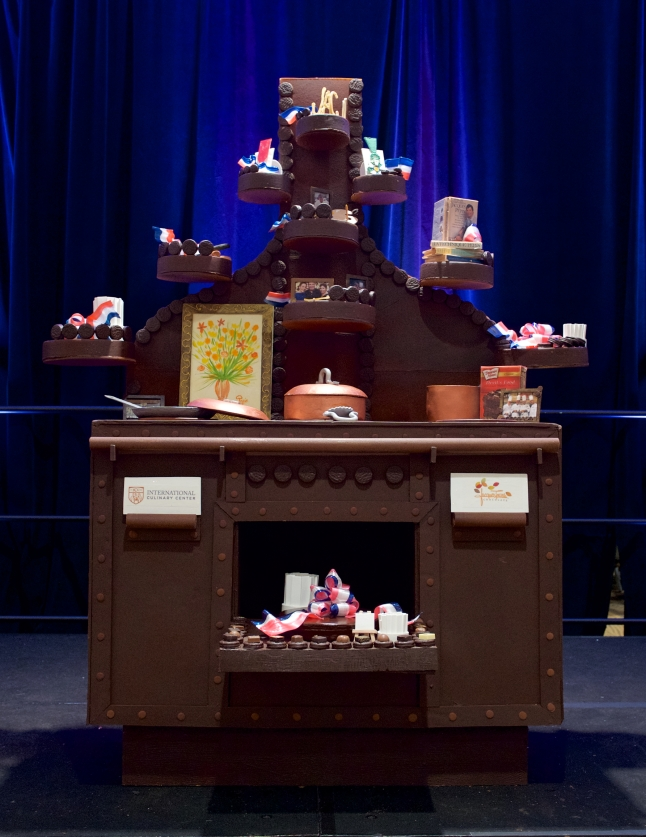 IACP Conference - Jacques Pepin 80th birthday tribute. Main display cake --Jacques Torres Oreo cake.