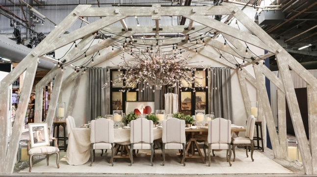 DIFFA's DINING BY DESIGN table viewing at Pier 92 at the Architectural Digest Home Design Show 2014: Ralph Lauren