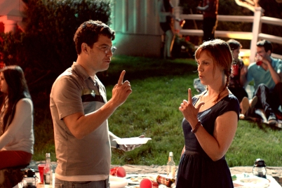Jeff and Anne, Adam Pally and Sarah BurnsPhotographer: Chase Bowman