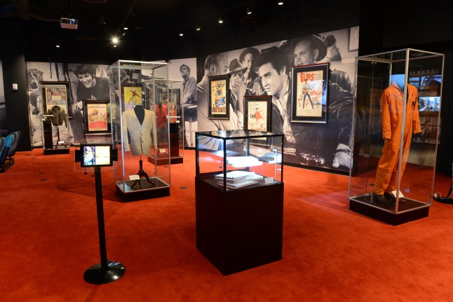 The exhibit showcases Elvis' beloved Graceland, with items such as Lisa Marie's baby shoes, a silver tray etched with Elvis and Priscilla's photo on their wedding day, their wedding china and more.
