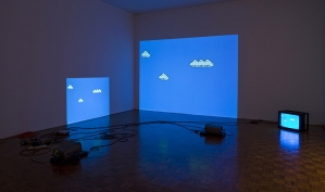 Cory Arcangel (b. 1978), Super Mario Clouds, 2002. Handmade hacked Super Mario Brothers cartridge and Nintendo NES video game system; dimensions variable. Whitney Museum of American Art, New York; purchase, with funds from the Painting and Sculpture Committee 2005.10. © Cory Arcangel